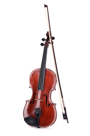 Violin isolated agaist a white background photo