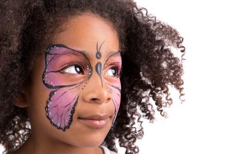 Mooi jong meisje met schminken als een vlinder Stockfoto - 20836639
