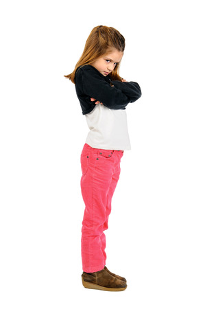 bad temper: Very angry child with bad temper