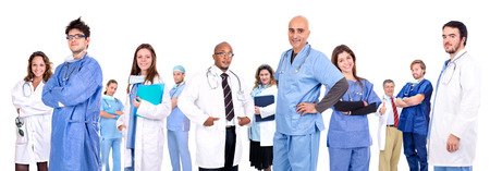 Medical team isolated in white Stock Photo