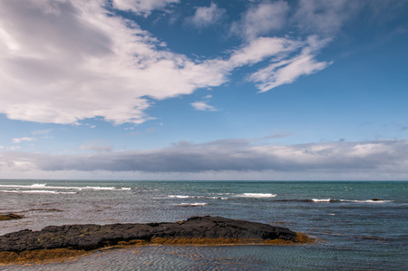 View of north Atlantic from an icelandic shore photo