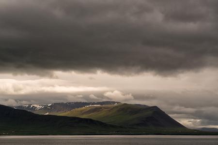 island�s: Hermoso paisaje de la monta�a de Islandia
