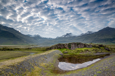 icelandic: Beautiful landscape of Icelandic mountain