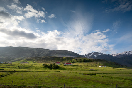 Beautiful landscape of Icelandic mountain