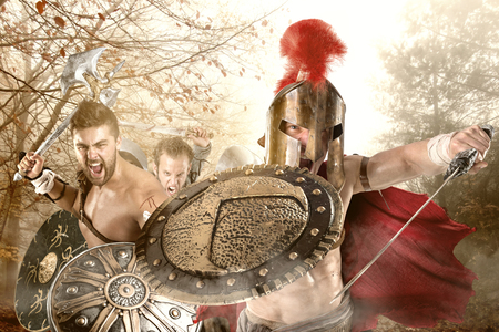 Group of warriors or Gladiators going to battle Reklamní fotografie