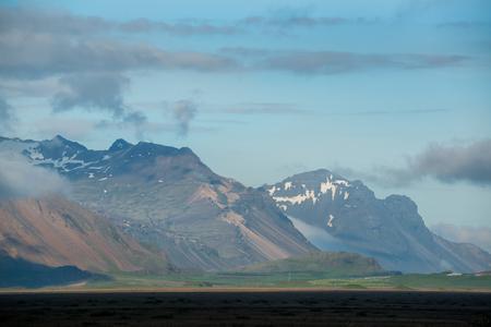 Beautiful landscape of Icelandic mountain