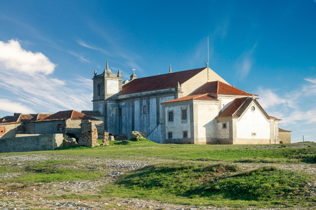 Church in the beautiful Cabo Espichel, Portugal Stock fotó - 84430363