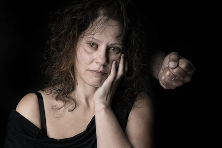 Abused woman victim of domestic violence
