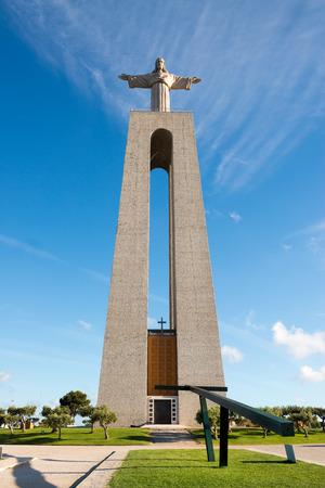 Statue of Cristo Rei in Almada, over Tagus river
