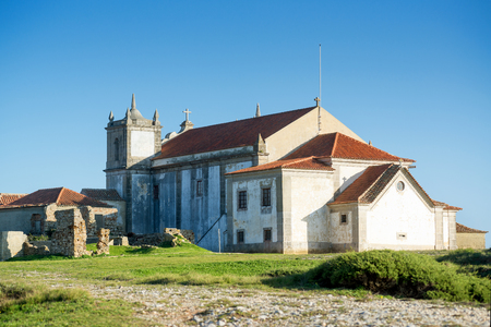 Church in the beautiful Cabo Espichel, Portugal