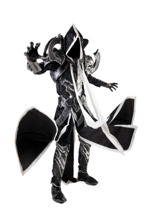 Man in a fantasy costume of a dark demon, cosplay.