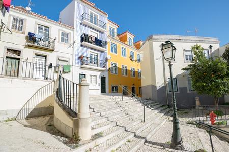 Beautiful and unique Alfama district in Lisbon, Portugal