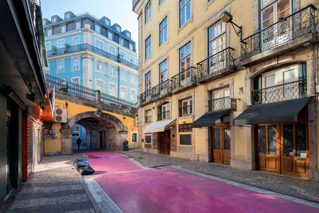 Beautiful and unique pink street in Redakční