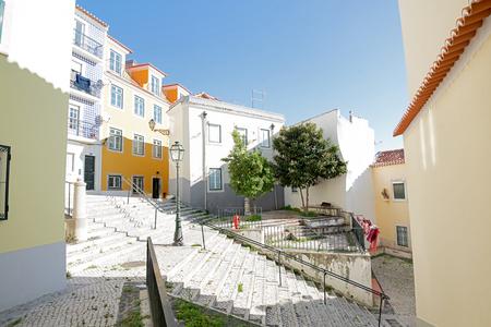Beautiful and unique Alfama district in Lisbon, Portugal Stock fotó - 107961332