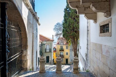 Beautiful and unique Alfama district in Lisbon, Portugal