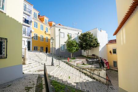 Beautiful and unique Alfama district in Lisbon, Portugal Stock fotó - 117135654