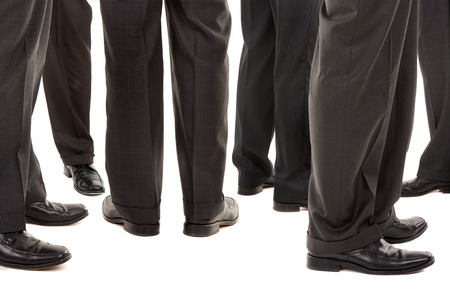 Businessmen legs isolated against a white background Stock Photo
