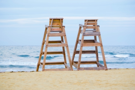 Baywatch chairs Stock Photo - 16029675