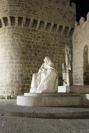 theologians: monument to Saint Teresa of Jesus Stock Photo