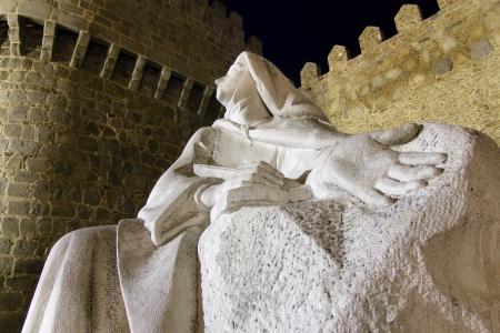 avila: monument to St  Teresa of Jesus