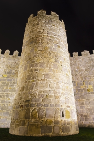 detail of the battlements of the walls of avila photo