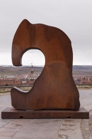 corten: Corten steel sculpture