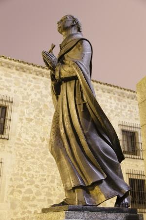 sculpture of St  John of the Cross, Avila, Spain
