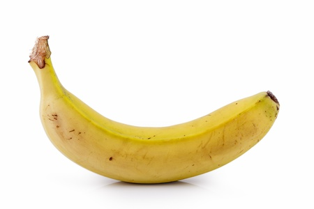 palatable: Canarian banana on white background