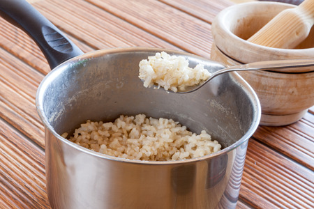 brown: Cooked Brown Rice