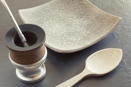 yerba mate: Foto de la vendimia de la yerba tradicional té de yerba popular en américa latina