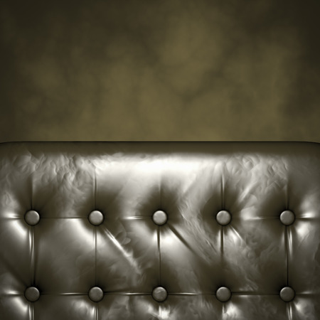copyspace: Luxury Furniture with copyspace. Genuine leather Stock Photo