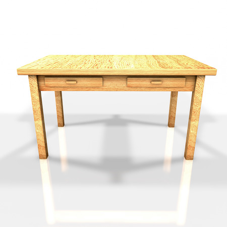 on the table: wooden table