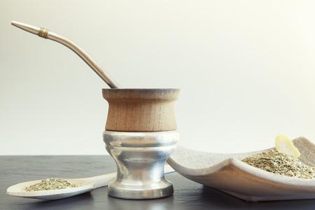 yerba mate: Foto de la vendimia de la yerba tradicional t� de yerba popular en am�rica latina