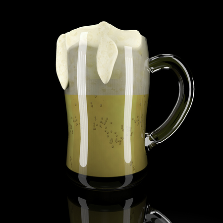 pitcher: pitcher of beer Stock Photo