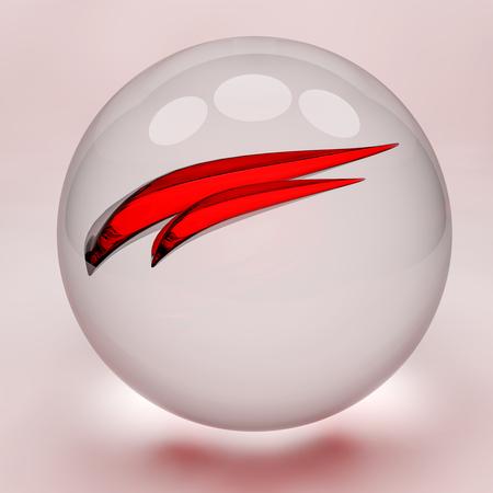 fishbowl: fishbowl, abstract illustration