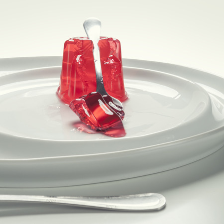 Gelatin on a dish Stock Photo