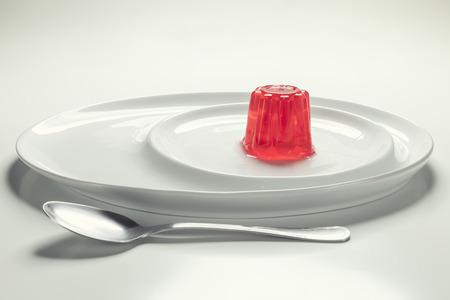 gelatina: La gelatina en un plato Foto de archivo