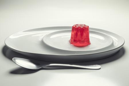 gelatin: Gelatin on a dish Stock Photo