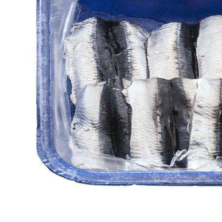 sardines: clean raw sardines Stock Photo
