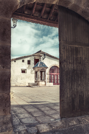 Courtyard of the silos (grain store), Burjassot, Valencia, Spain