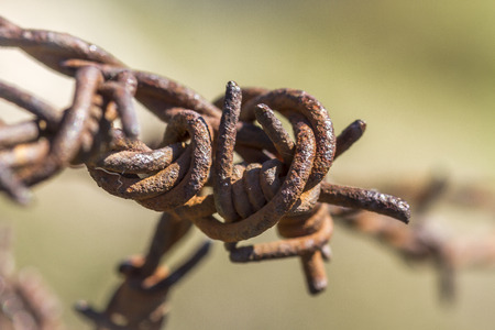 rusty wire: Closeup of a pua of a rusty wire Stock Photo