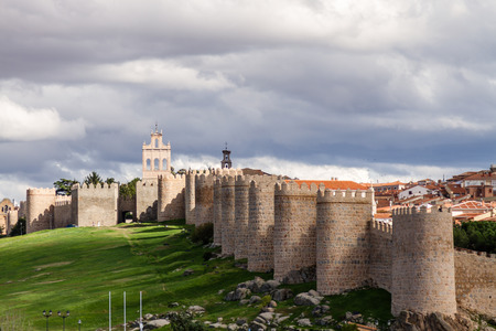 avila: views of the city of Avila in Spain, perfectly preserved medieval walled city