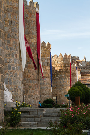 perfectly: views of the city of Avila in Spain, perfectly preserved medieval walled city