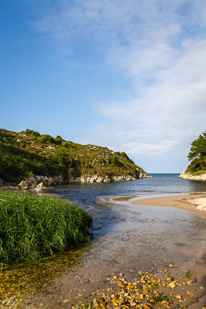 beaches of spain: the beaches and the most popular and beautiful cliffs of the Cantabrico sea in Spain
