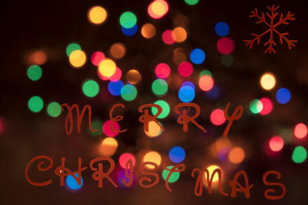 customs and celebrations: blurred colored lights to decorate the Christmas