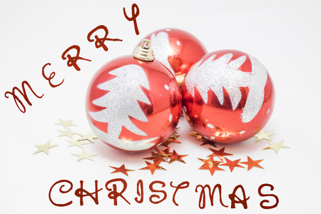 customs and celebrations: several balls to decorate the Christmas tree Stock Photo