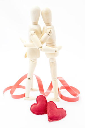 i hope: couple embracing in love with two hearts at your feet