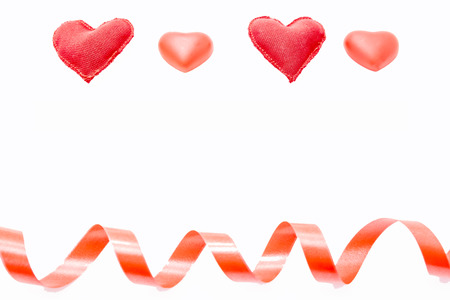 i hope: four red hearts on top of a white background Stock Photo