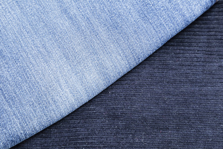 corduroy: corduroy pants and blue jeans for use as background