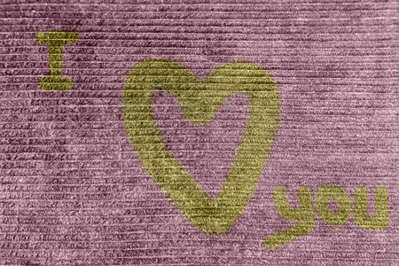 corduroy: Backgrounds and effects colorful corduroy cloth with a heart of love Stock Photo